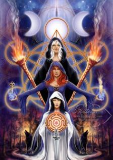 The triple Goddess of Maid, Mother, Crone or Modernity, Creatvity, Wisdom. Allowing us to embrace all aspects of our self and versions of ourselves.