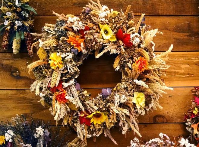 Rural Natural Decoration Autumn Wood Wreath Fall